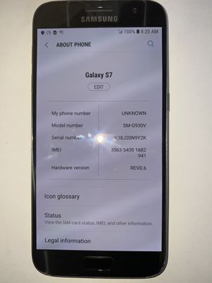 Unlocked Samsung Galaxy S7 32GB ANY SIM WORKS for Sale in Baltimore, MD