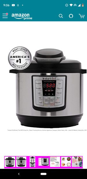 New sealed instant pot ip-lux60 pressure cooker for Sale in Bellevue, WA