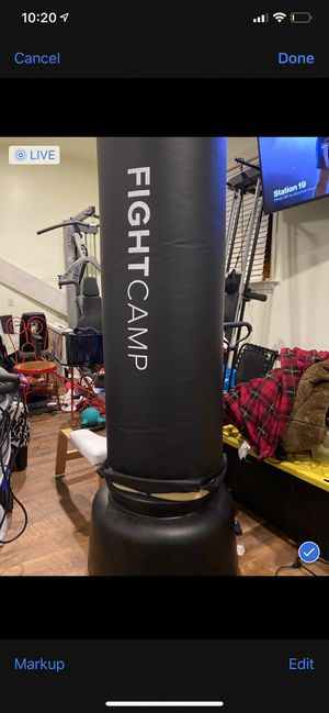 Punching bag / stands upright/ from fightclub/ plus boxing gloves sold together - for purchase- for Sale in Bridgeville, PA