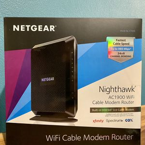 Netgear Nighthawk AC1900 WiFi Cable Modem Router for Sale in Santa Clara, CA