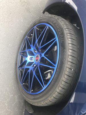 Elegant Set of Four (4) RR-Rims and Tires Mount & Balance:235/40ZR18 In Excellent Condition Asking $800. Obo for Sale in Delray Beach, FL