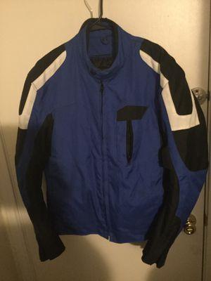 Revolution Gear Blue & Black Motorcycle Jacket Large for Sale in San Antonio, TX