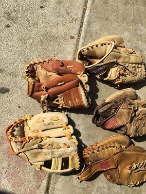 Left-handed baseball gloves for Sale in Cerritos, CA