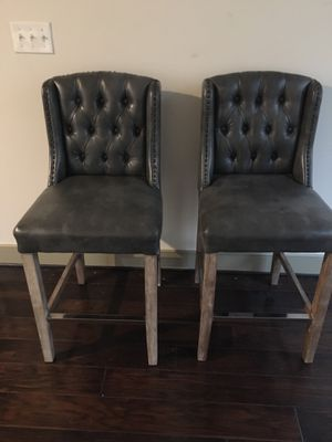 Broyhill Grey Studded Counter Height Chairs for Sale in Arlington, VA