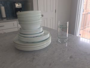 Corelle dish set - 45 plates, saucers, bowls and glass for Sale in Alexandria, VA