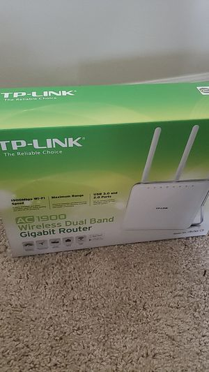 TP-LINK AC 1900 WIRELESS DUAL BAND GIGABIT ROUTER for Sale in Columbus, OH