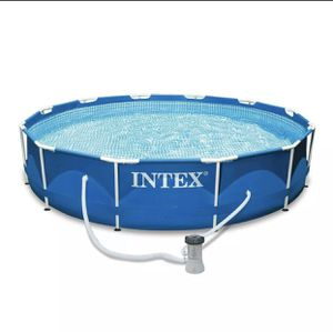Intex 12ft x 30in Metal Frame with Pump in hand! for Sale in Raleigh, NC