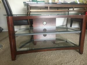 Glass tv stand for Sale in Alexandria, VA