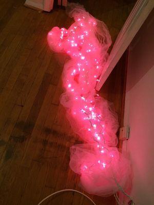 Pink lights w/tulle for Sale in Manassas, VA