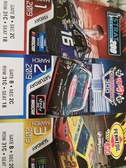 3 Nascar tickets for sale for Sale in East Wenatchee,  WA