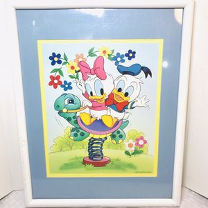Vintage 1984 Disney Donald & Daisy Duck Framed picture for Sale in Pawtucket, RI