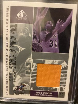 2002-03 SP Game Used MAGIC JOHNSON All-Star Apparel Lakers jersey relic card SP for Sale in Chino Hills, CA
