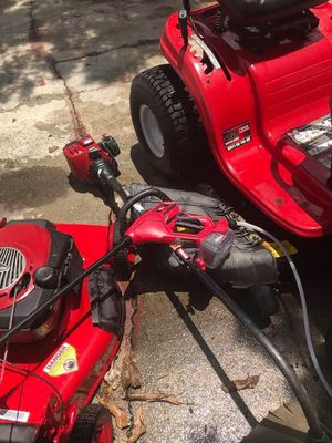 Yard man tractor lawnmower weed eater power washer for Sale in Orlando, FL