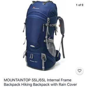 MOUNTAINTOP Adventure 65L Internal Frame Backpack Hiking Backpack with Rain Cover for Sale in San Diego, CA