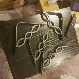 4 Decorative Metal Shelf Brackets for Sale in Rockville, MD