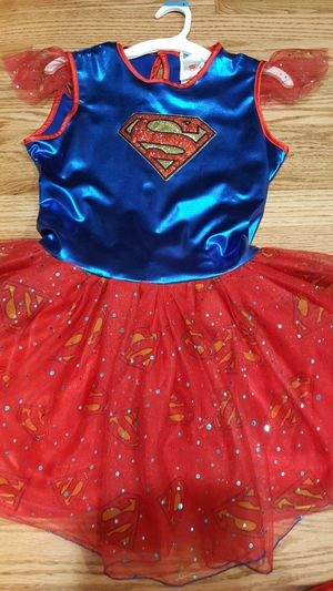 4 pieces Supergirls Costume Size 12/ 14 for Sale in Everett, WA