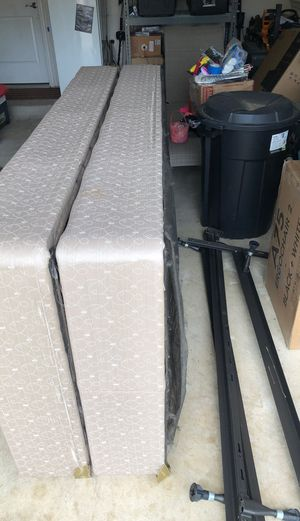 Cal King metal frame with box spring. for Sale in Leander, TX