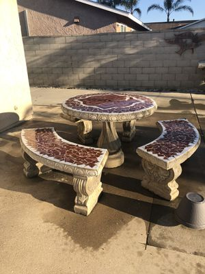 Cement Table / Mesa de Cemento for Sale in Fontana, CA