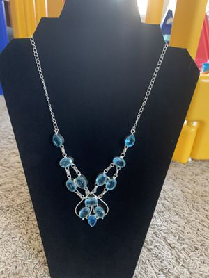 Sterling silver blue topaz necklace $50 firm for Sale in Sacramento, CA