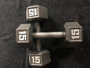 15 lb weights (15 pound) for Sale in Boynton Beach, FL