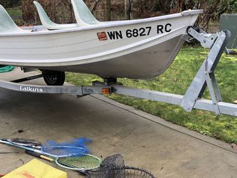 14' Aluminum Boat and Trailer for Sale in Duvall,  WA