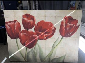 BEAUTIFUL WRAPPED FLORAL CANVAS ART for Sale in Temecula, CA