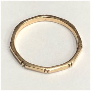 14KT Yellow Gold Octagon Stackable Ring for Sale in Naperville, IL