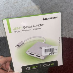 USB-C dual 4K HDMI Adapter for Sale in Queens, NY