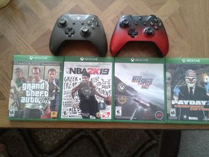 Xbox One Controller and 4 Games for Sale in Hopewell, VA