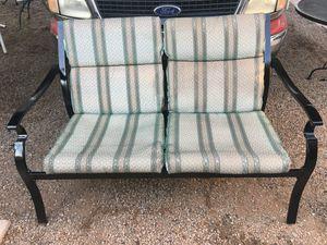 Metal Patio Bench W/ Cushions (Read Description) for Sale in Phoenix, AZ