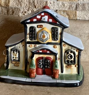 Ceramic Police Station Luminary Tea Light Candle Holder Decoration for Sale in North Ridgeville, OH