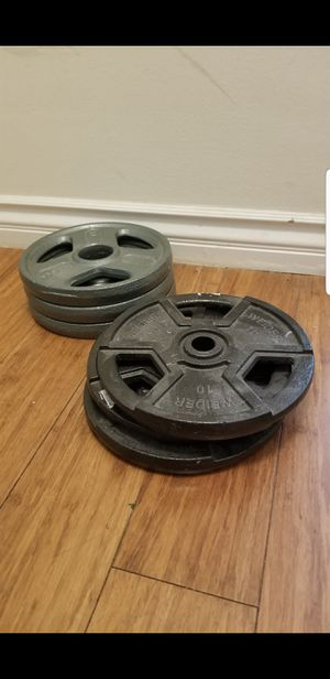 10 lbs weider weight plates for Sale in Glendale, CA