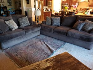 Deep Seated Mocha Brown Microfiber Couches for Sale for Sale in Gilbert, AZ