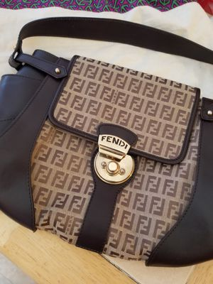 Fendi Zucca Authentic brown shoulder bag for Sale in Queens, NY