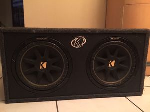 "12"" inch Kicker Subwoofers in Box and a 1000 watt Kenwood Amplifier for Sale in Miami Gardens, FL"