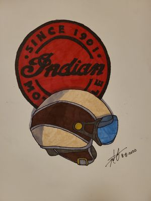 Indian Motorcycle Logo and Vintage Motorcycle Helmet for Sale in Gilmer, TX