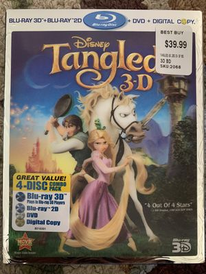 Tangled 3-D Blu Ray Bundle for Sale in Santa Clarita, CA