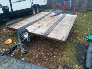 2 place tilt snowmobile trailer for Sale in Third Lake, IL