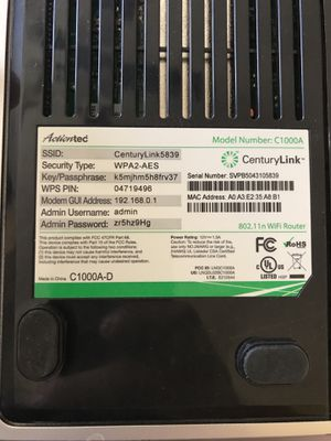 CenturyLink modem and WiFi router model C1000A for Sale in Gilbert, AZ