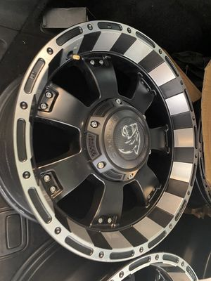 """4-Panther OffRoad 815 17x9 6x135/6x5.5"""" +0mm Black/Machined Wheels Rims 17"""" Inch for Sale in King of Prussia, PA"""