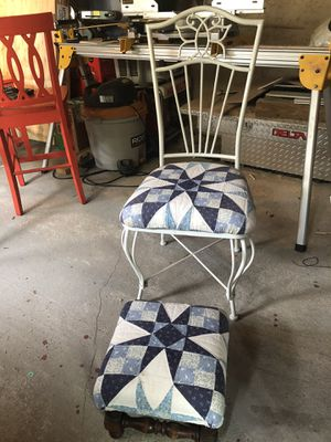 Chair & small matching stool for Sale in Lacey, WA