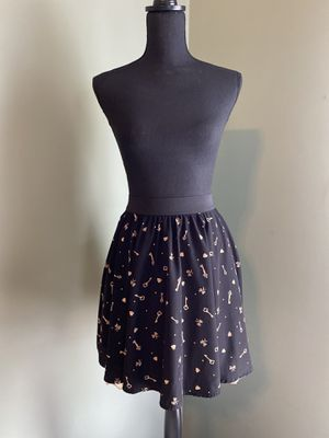 Flowy skirt with keys & bows pattern for Sale in Bristow, VA