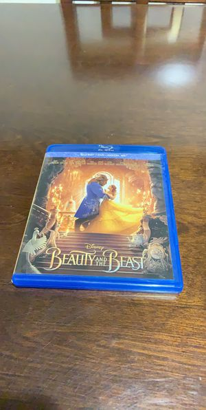 Disney beauty and the beast live action blu-ray for Sale in Brea, CA