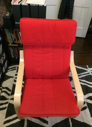 IKEA POANG Armchair with Ransta Red cushion for Sale in Columbus, OH