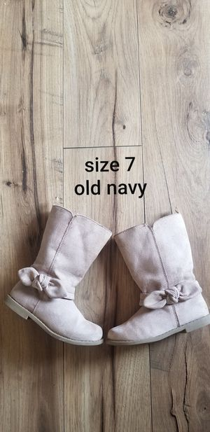 Size 7 toddler girls boots old navy for Sale in Piedmont, SC