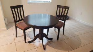 ⭐SOLID WOOD DINING TABLE 2 SUEDE CUSHION CHAIR'S⭐ for Sale in Homestead, FL
