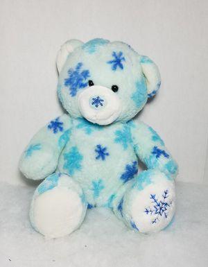 "Build a Bear Winter Hugs Snowflake Christmas Blue Flurry Teddy 15"" BABW Plush for Sale in San Marcos, TX"