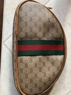 Vintage Gucci monogram pouch zipper bag for Sale in Mount Oliver, PA