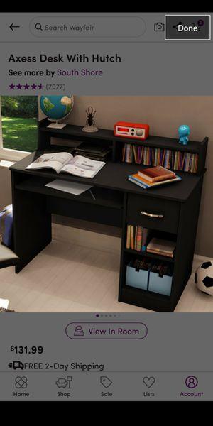 brand new black desk with hutch for Sale in Pembroke Pines, FL