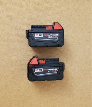 New (2) Batteries Milwaukee 5.0 for Sale in Woodbridge, VA